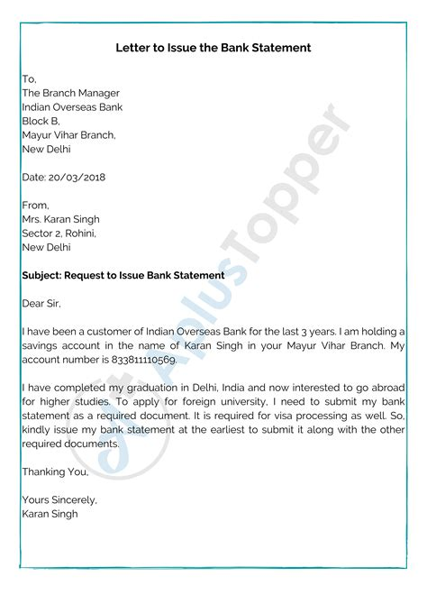 People use to provide authority of operating their bank account to their trustworthy friends or relatives so that, in the case of. Letter Template Providing Bank Details / Bank Statement ...