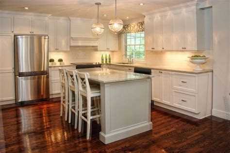white l shaped kitchen with island l shaped kitchen with central island design ideas