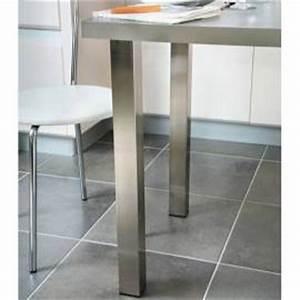 Plan De Travail Carré : pied de table de cuisine table bar accessoires de cuisines ~ Melissatoandfro.com Idées de Décoration