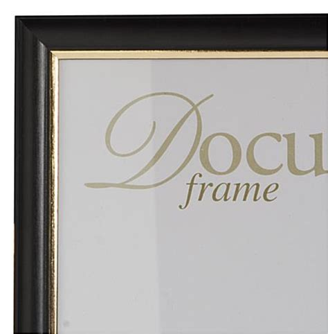 wood certificate frames gold trim