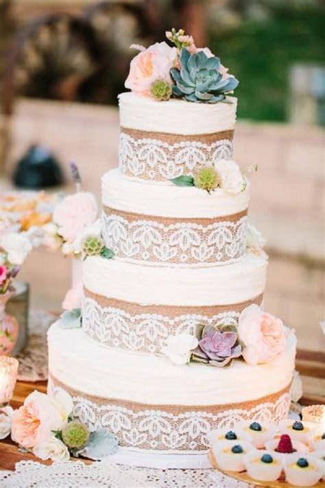 burlap wedding cakes  rustic country weddings deer