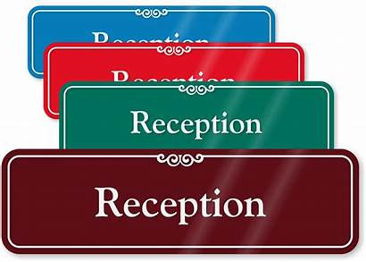 Reception Signs Sign Wall Please Notify