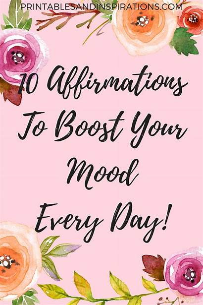Positive Printable Affirmations Quotes Bible Inspirational Mood
