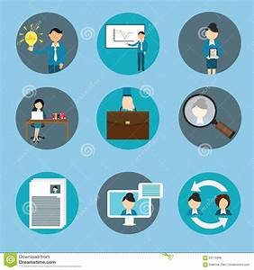 Management Icon Set Vector Illustration | CartoonDealer ...