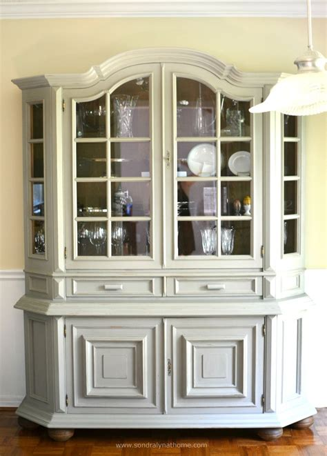 hometalk diy china cabinet chalk paint makeover