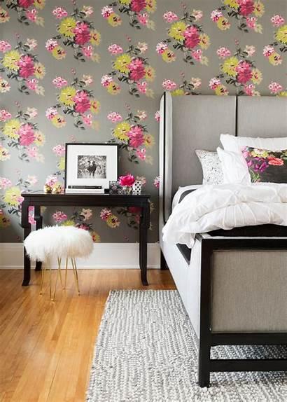 Bedroom Floral Farmhouse Wall Feminine Pink Fun