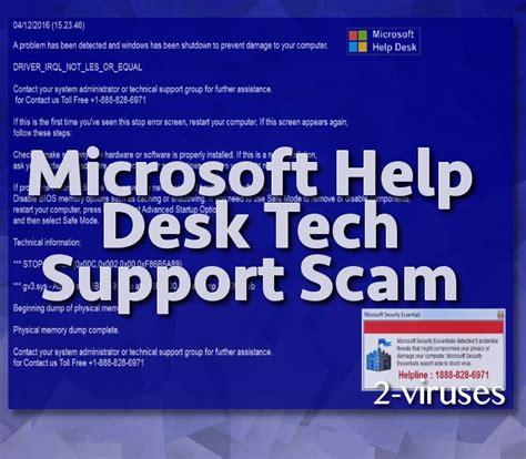 windows help desk scam microsoft help desk tech support scam how to remove 2