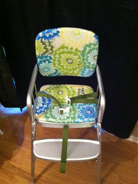 vintage cosco highchair makeover recovered  chair