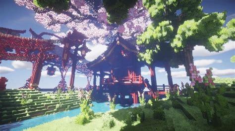 sakura island cherry tree minecraft building