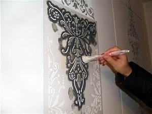 Stencil muro Bricolage