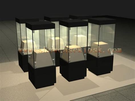 museum display glass tower case ck benztto china