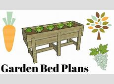 Waist high raised garden bed plans free YouTube