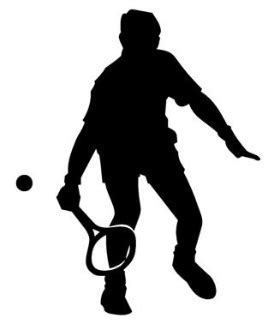 tennis player clipart black and white tennis player silhouette 1 decal sticker