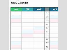 Annual Calendar Template calendar month printable