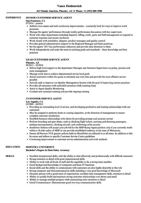 Phone Customer Service Resume by Customer Service Resume Sles Velvet