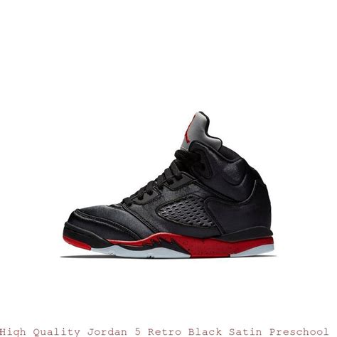 Gear up for the streets or a run with our collection of nike men's shoes from your favourite brand. High Quality Jordan 5 Retro Black Satin Preschool Kids ...