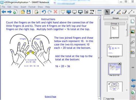 fingers multiplication method for x6 x7 x8 x9 skills workshop