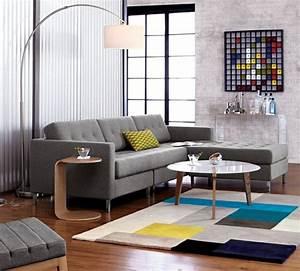 couleurs automne tendance pour un interieur elegant With tapis de sol avec canapé d angle blanc