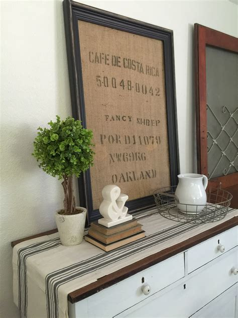 Diy Framed Burlap Coffee Bag Farm Fresh Homestead
