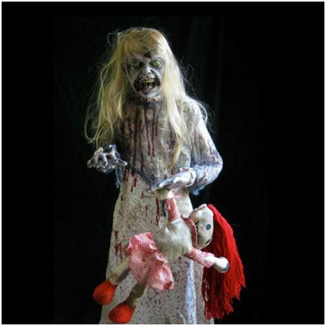 Lifesize Zombie Girl Prop · Mad About Horror