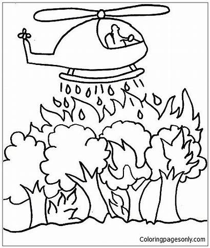 Fire Coloring Forest Pages Printable Getdrawings Getcolorings