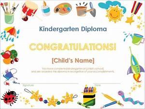 screenshot of the kindergarten diploma template With pre k award certificate templates