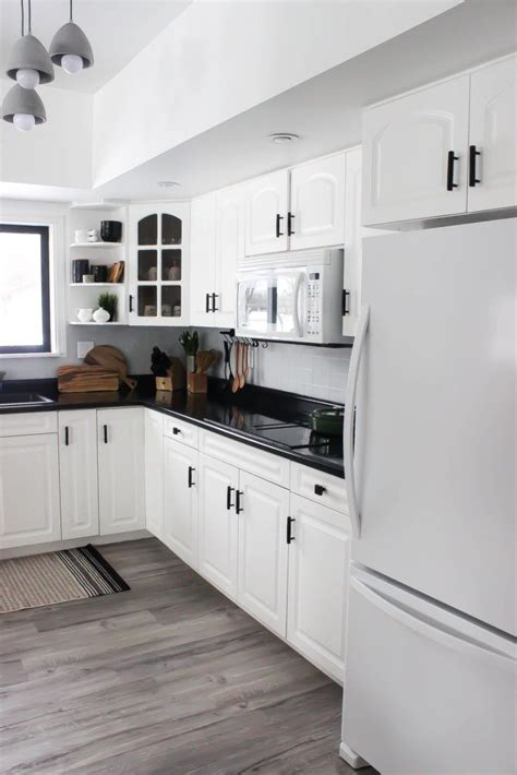 White Kitchen Cupboards With Black Countertops by Our Weekend Renovation A New Modern Kitchen