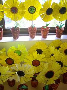 Grade 1 Students Made These Potted Sunflowers To Celebrate