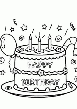 birthday coloring pages  kids birthday party coloring