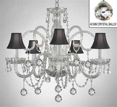 Black Chandelier Shade by Chandelier With Black Shades Balls Ebay