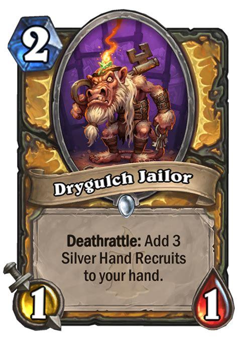 deathrattle deck hearthstone 2017 drygulch jailor hearthstone card