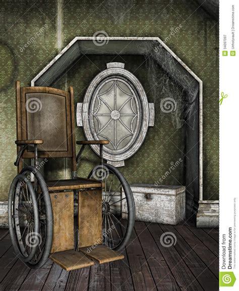vieux fauteuil roulant dans une salle poussi 233 reuse