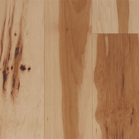 lowes hardwood flooring reviews shop mullican flooring nature 4 in w prefinished hickory hardwood flooring natural at lowes com