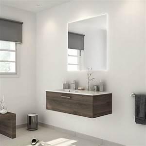 Store Salle De Bain : meuble de salle de bains de 100 119 brun marron neo ~ Edinachiropracticcenter.com Idées de Décoration