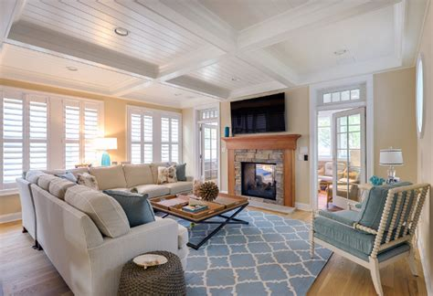 Beach Cottage with Neutral Coastal Interiors - Home Bunch