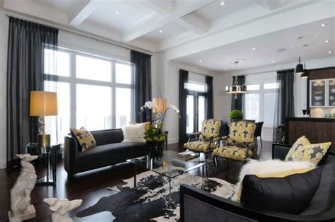 Yellow Black And Living Room Ideas by Yellow And Black Living Room Contemporary Living Room