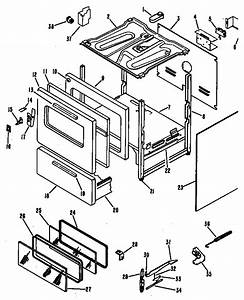 Oven Diagram  U0026 Parts List For Model Rb63601 Hotpoint