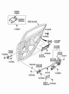 2009 Hyundai Accent Latch  U0026 Actuator Assembly Rear   Rear