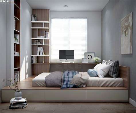 Bedroom Desk Storage by Elevated Platform Can Also Be Chair For Work Desk Added