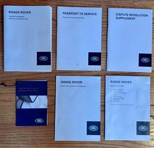 2013 Land Range Rover Owners Manual User Guide Set