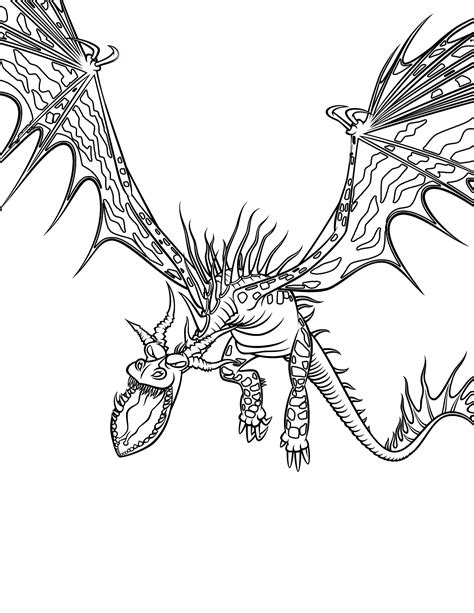 Coloring page A terrible monster
