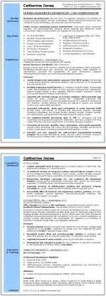 Hr Generalist Resume by Human Resources Generalist Resume Sle