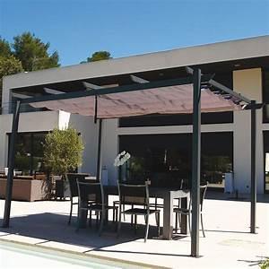 Tonnelle Autoportant : tonnelle autoportante aluminium toile coulissante 2 83x4 m manhattan plantes et jardins ~ Farleysfitness.com Idées de Décoration