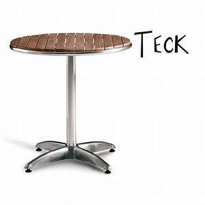 Table Ronde En Teck : table ronde ou carr design teck bistrot caf bar ~ Teatrodelosmanantiales.com Idées de Décoration