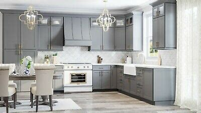 rta  wood  modern contemporary shaker grey kitchen