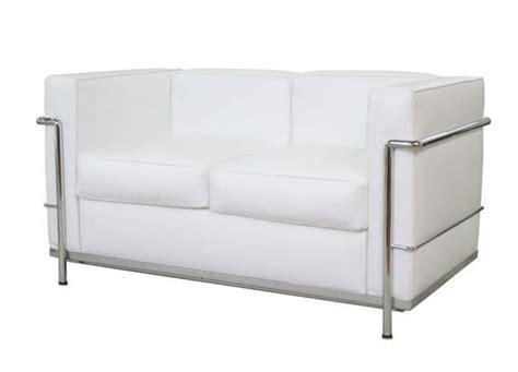 Lc2 Divano 2 Posti Le Corbusier Acciaio Inox Pelle
