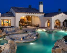 house with pool mediterranean pool beautiful homes design