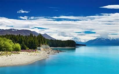 Zealand Lake Pukaki Desktop Landscape