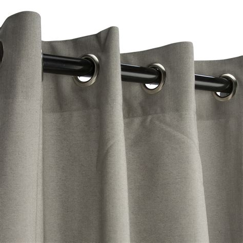 sunbrella curtains with grommets grommeted dove sunbrella outdoor curtains
