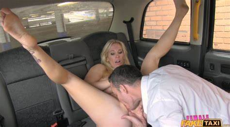 Dark Blond Hidden Pussylicking In Fake Taxi